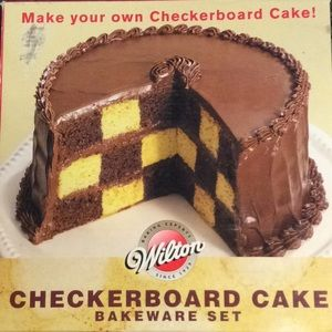 Wilton Checkerboard Cake Bakeware Set